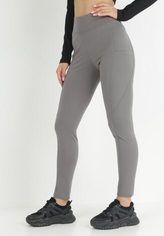 Ciemnoszare Spodnie Skinny Althelaia