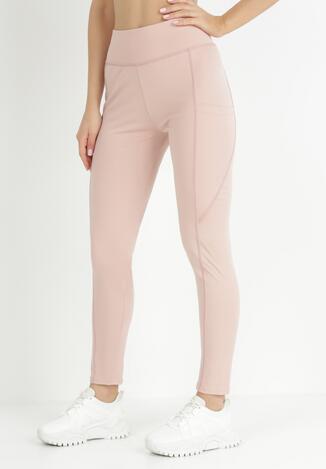 Jasnoróżowe Spodnie Skinny Althelaia