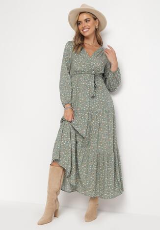 Zielona Sukienka Inias