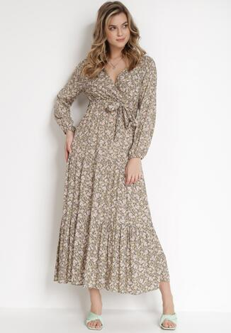 Beżowa Sukienka Naerarpia