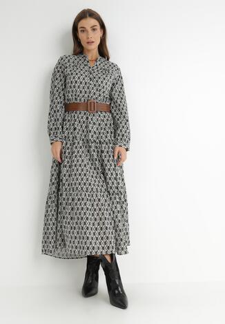 Czarno-Biała Sukienka Toothsey