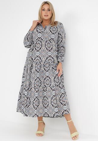 Granatowa Sukienka Deparia