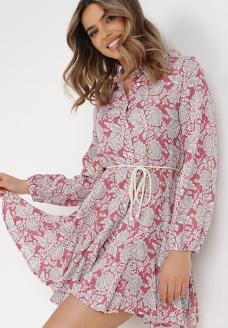 Różowa Sukienka Chloraste