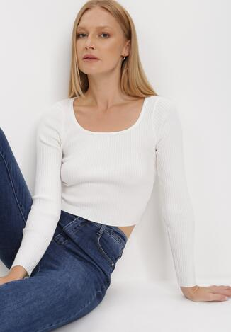 Biały Sweter Cythippe