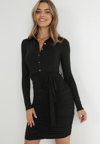Czarna Sukienka Omphiera