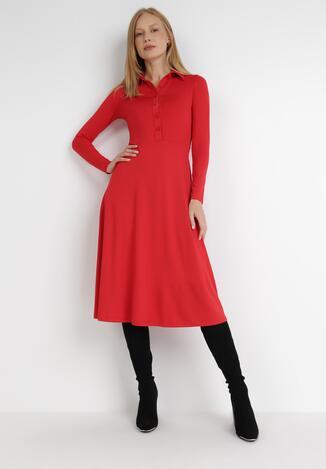 Czerwona Sukienka Mellobe