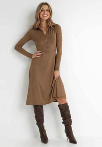 Brązowa Sukienka Mellobe