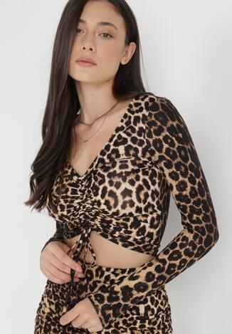 Czarno-Beżowa Bluzka Chrysiore