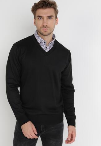 Czarny Sweter Z Wełną Phylasia