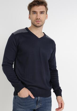 Granatowy Sweter Melyse
