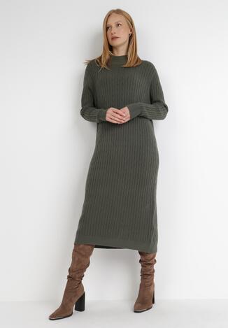 Ciemnozielona Sukienka Caeippe