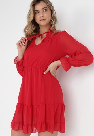 Czerwona Sukienka Katathe