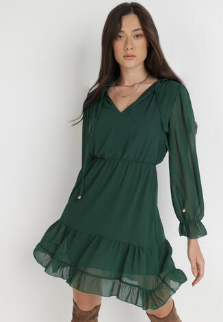 Zielona Sukienka Katathe