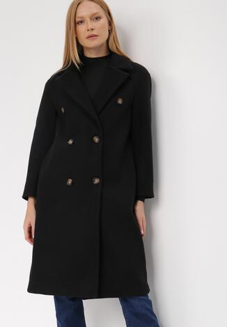 Czarny Płaszcz Evenia