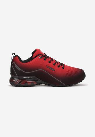 Czerwono-Szare Buty Sportowe Aeryrea