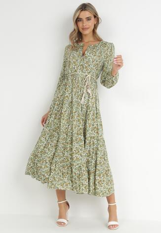 Zielona Sukienka Cecane