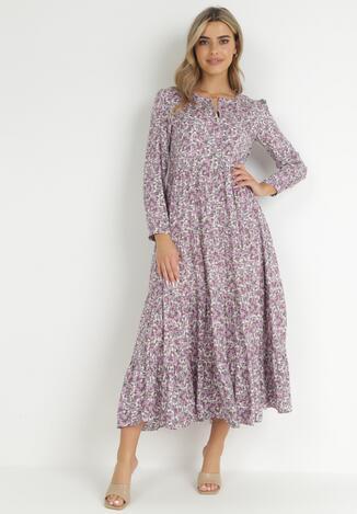 Fioletowa Sukienka Cecane