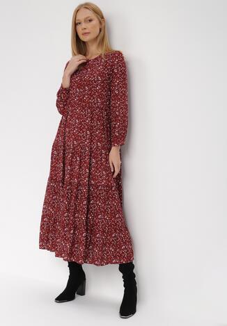 Bordowa Sukienka Doroinne