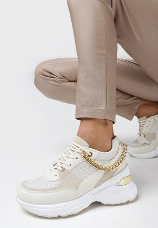 Beżowe Sneakersy Dephaera