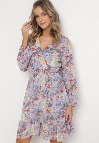 Jasnofioletowa Sukienka Sylena