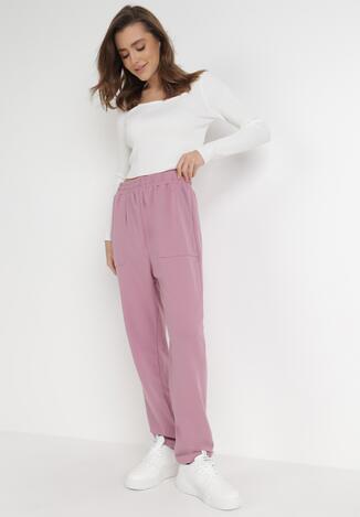 Różowe Spodnie Dresowe Lyvyre
