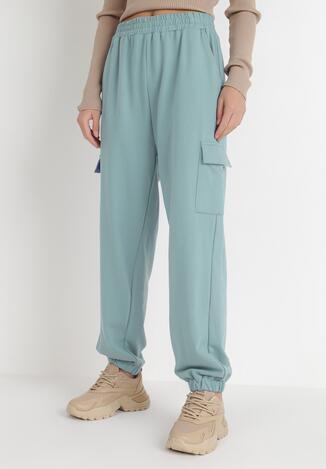 Miętowe Spodnie Dresowe Xirys