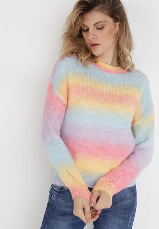 Niebiesko-Żółty Sweter Z Wełną Taeris