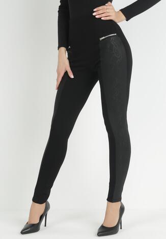 Czarne Spodnie Skinny Feanaphine