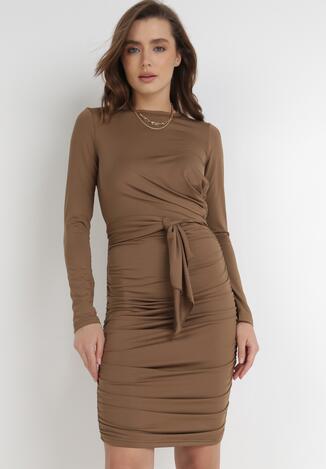 Brązowa Sukienka Ocylia
