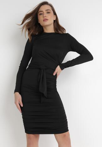 Czarna Sukienka Ocylia