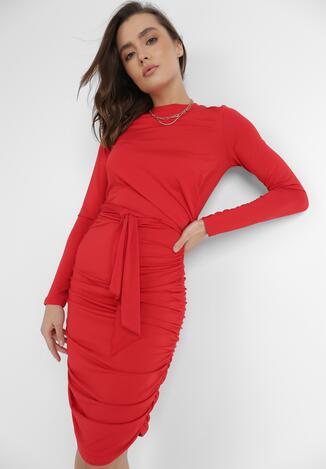 Czerwona Sukienka Ocylia