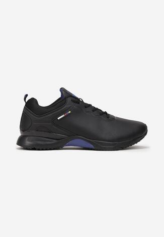 Czarno-Niebieskie Buty Sportowe Christian