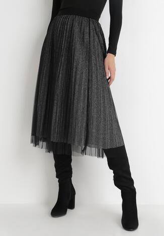 Czarno-Srebrna Spódnica Gylane