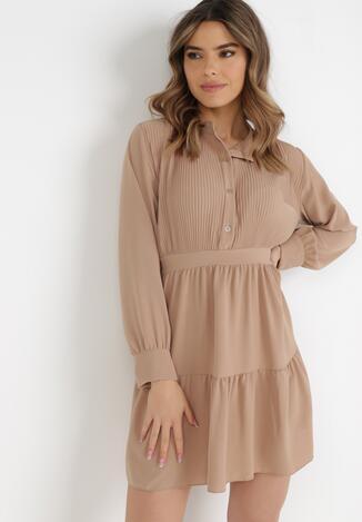 Beżowa Sukienka Sephase