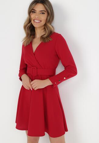 Czerwona Sukienka Calyore