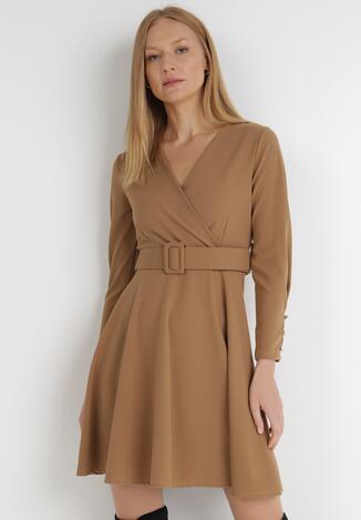 Beżowa Sukienka Calyore