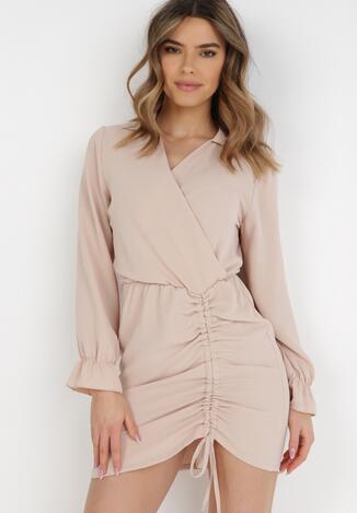 Jasnobeżowa Sukienka Saviphis