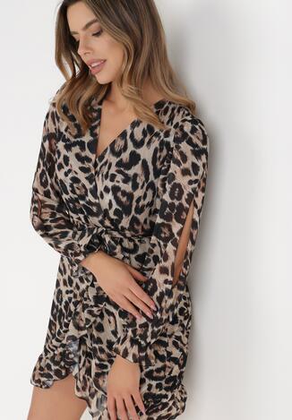 Jasnobeżowa Sukienka Pheloris