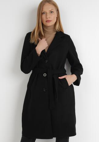 Czarny Płaszcz Yesoe