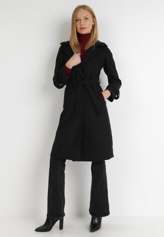 Czarny Płaszcz Xylialle