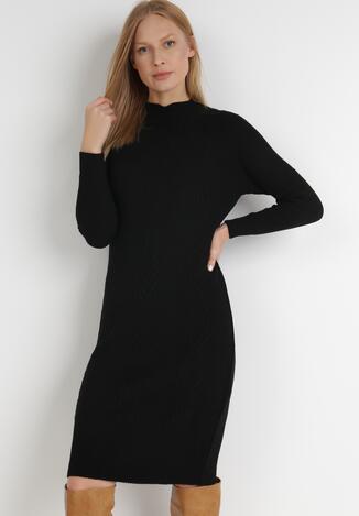 Czarna Sukienka Dzianinowa Avone