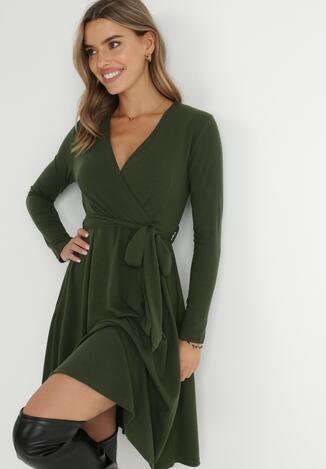 Ciemnozielona Sukienka Therinore
