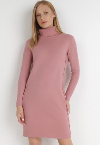 Różowa Sukienka Dzianinowa Zerora