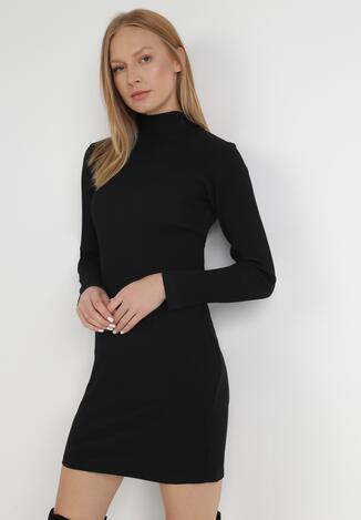 Czarna Sukienka Dzianinowa Nerane