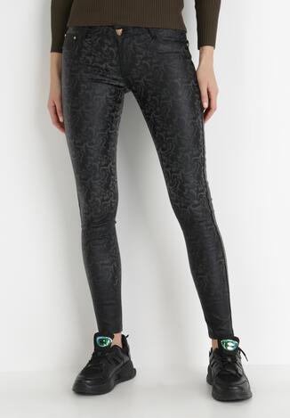 Czarne Spodnie Skinny Thylyore