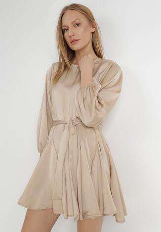 Beżowa Sukienka Uvynea