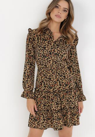 Czarno-Beżowa Sukienka Ocypora