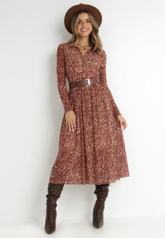 Bordowa Sukienka Airise