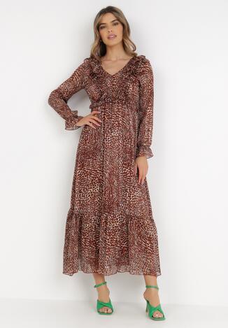 Brązowa Sukienka Nellea