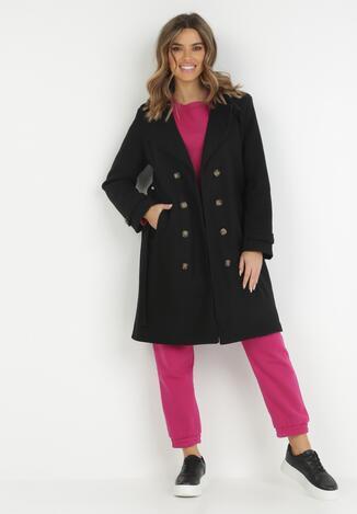 Czarny Płaszcz Lineris